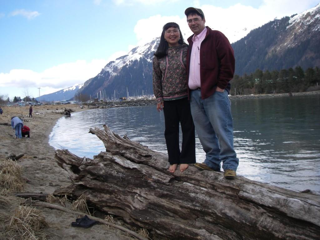 Tom and BJ at Alaskan subsistence camp