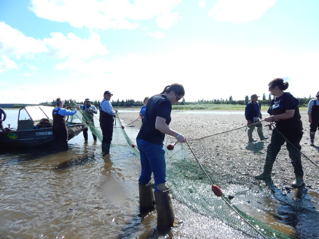 seine fishing with college students