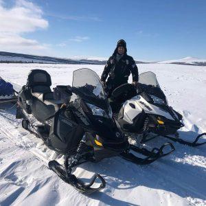 Snow-mobile over the Alaska Tundra