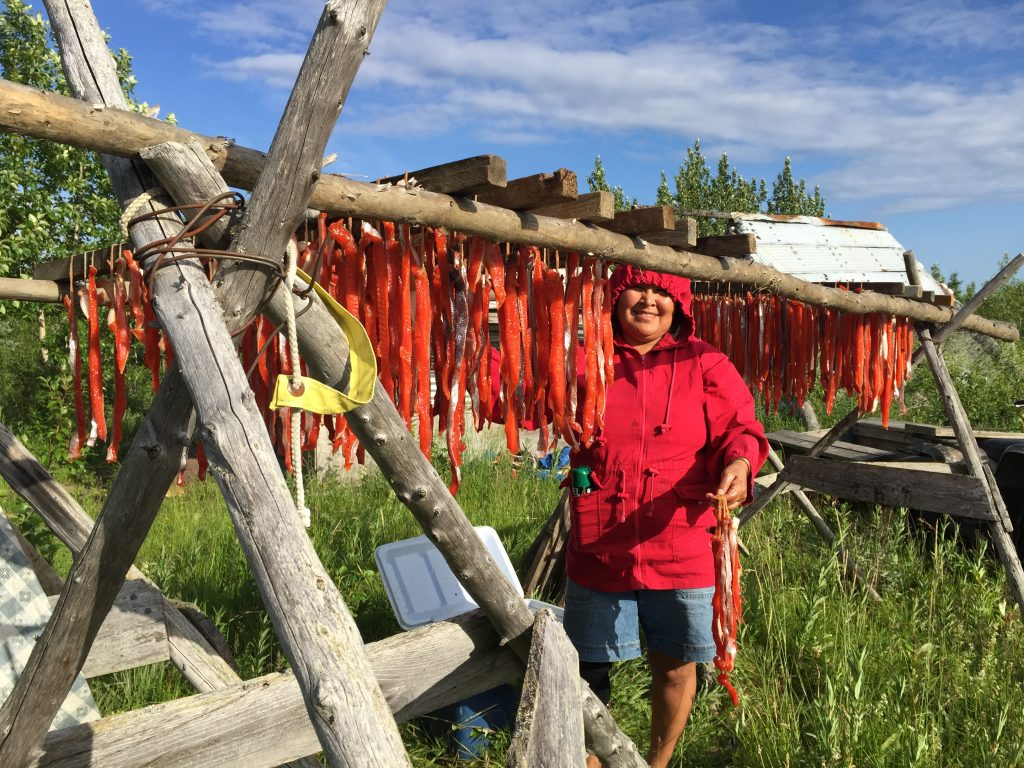 Drying Salmon - Native Alaskan Culture