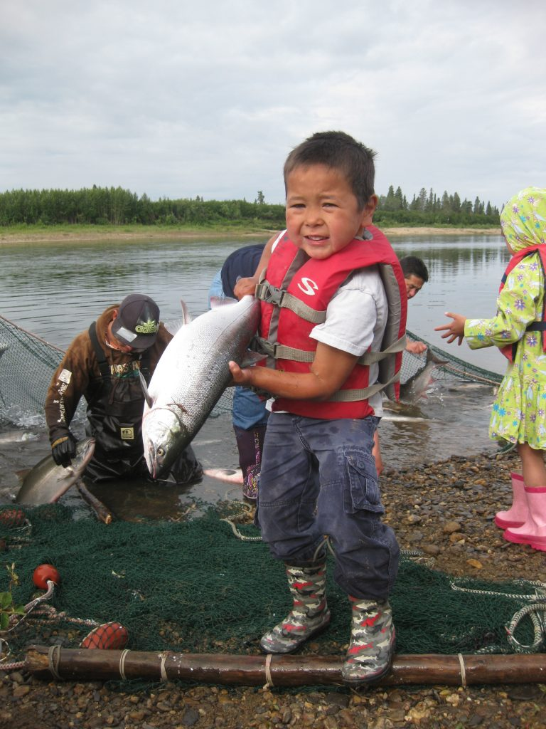 Fishing begins at a Young age in the Eskimo Traditions