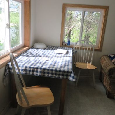 Inside the Cabin -Table and Chairs