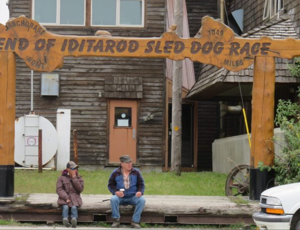 Finish Line of the Iditarod Sled Dog Race