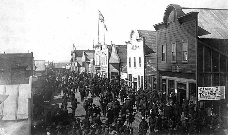 Crowded Streets of Nome, 1899