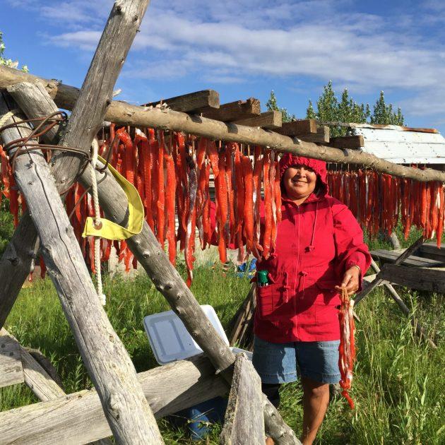 Drying Salmon - Native Alaskan Culture and Wildlife