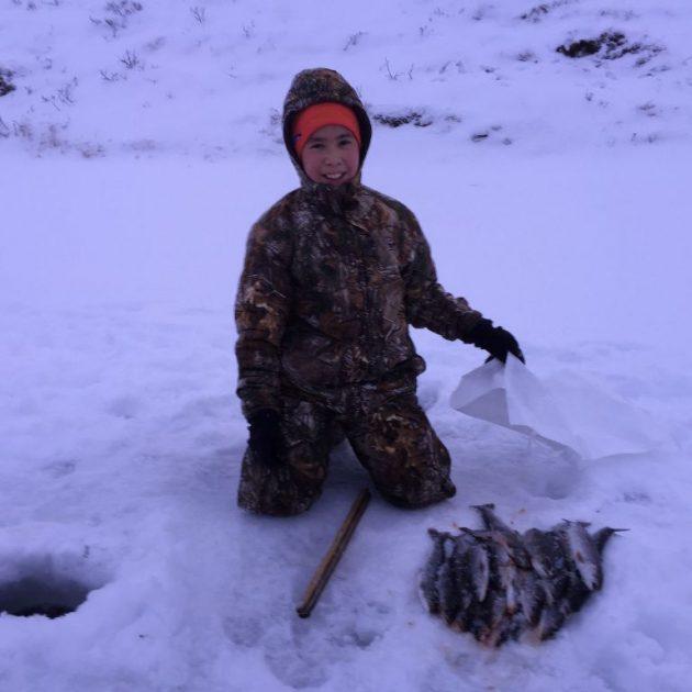 Successful ice fishing!