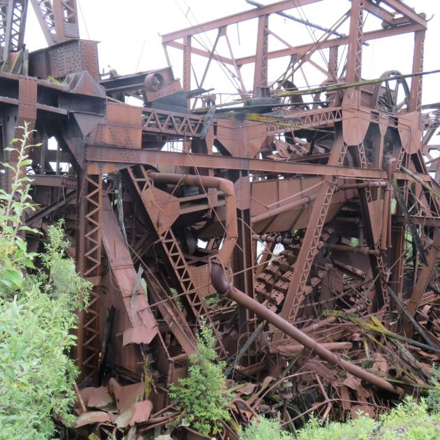 Gold mining skeleton of the past in Nome Alaska